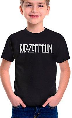 Camiseta Infantil Kid Zeppelin Preto