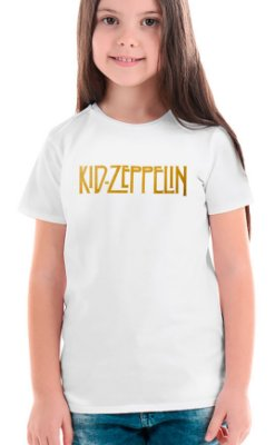 Camiseta Infantil Kid Zeppelin Branco