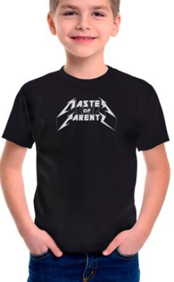 Camiseta Infantil Master of Parents Preto