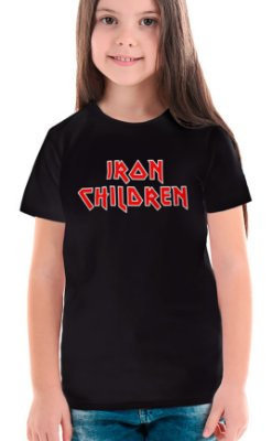 Camiseta Infantil Iron Children Preto