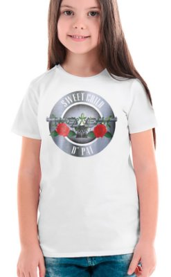 Camiseta Infantil Sweet Child d' Pai - Branco