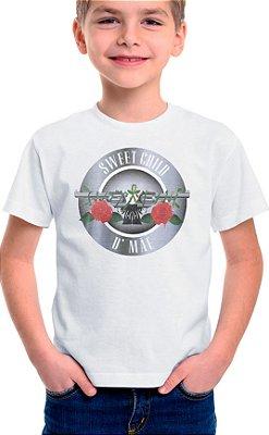 Camiseta Infantil Sweet Child d' Mãe - Branco