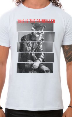 Camiseta Masculina Painkiller Branco