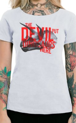 Camiseta Feminina Dinosaurs Branco