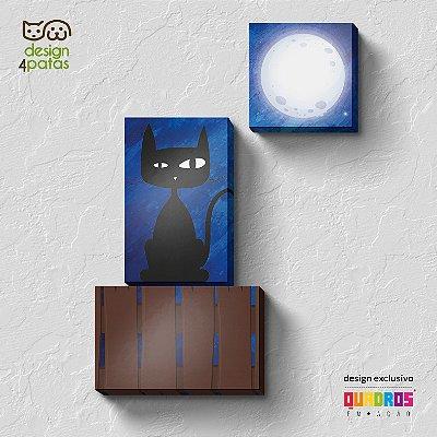Kit de Quadros Gato ao Luar
