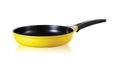 Frigideira Roichen Natural com Revestimento Cerâmico - 26 CM - 2,4L - Amarela - Sem tampa