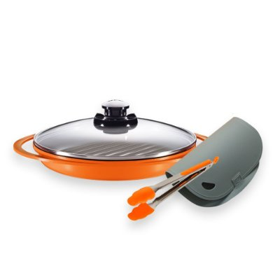 Kit Grill Smart Pot Roichen + Pinça de Silicone + Tábua antibacteriana