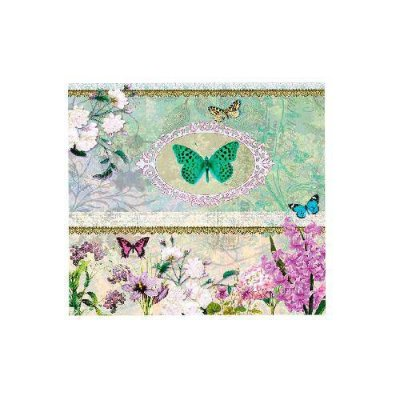 Guardanapo Butterfly Medaillon - Ambiente Luxury  33x33 - 20 folhas