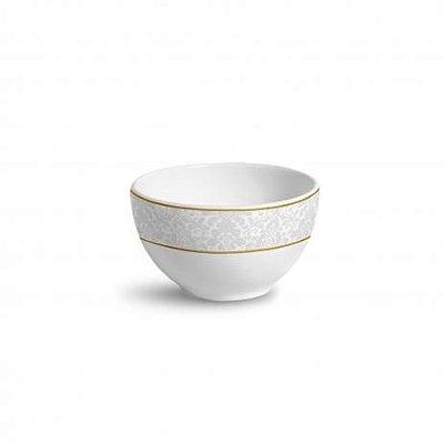 Bowl Liso Damask - Branco Estampado - Porto Brasil -  600 ml