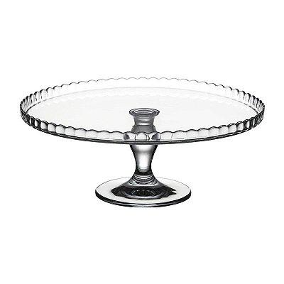 Prato de vidro com pé Patisserie - Pasabahce - 32 Cm