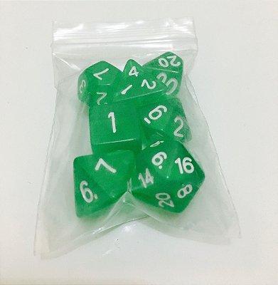 Kit de Dados para RPG - Verde
