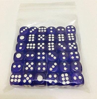 Kit de Dados com 36 D6 - Azul