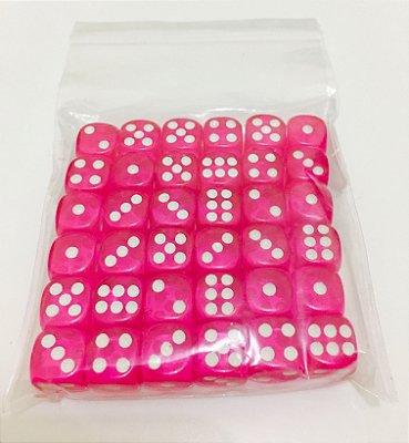 Kit de Dados com 36 D6 - Rosa