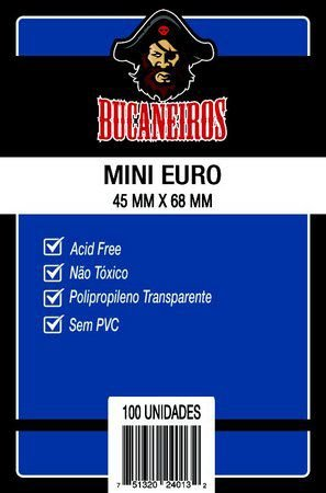 Sleeves MINI EURO 45 x 68 mm Bucaneiros