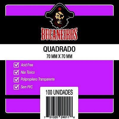 Sleeves QUADRADO - 70x70 mm - Bucaneiros