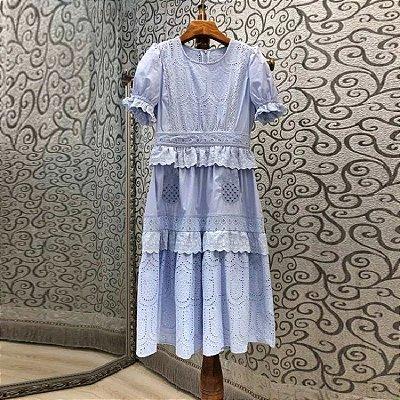 vestido laise lavanda midi