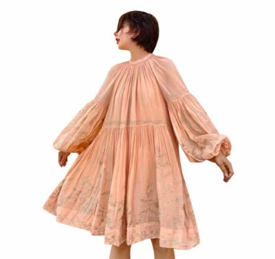 Vestido boho bordado túnica