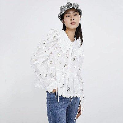 Camisa social vintage gola laise virada