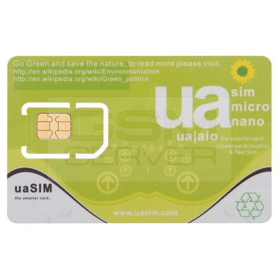 Chip de Ativação e Teste Universal UA SIM
