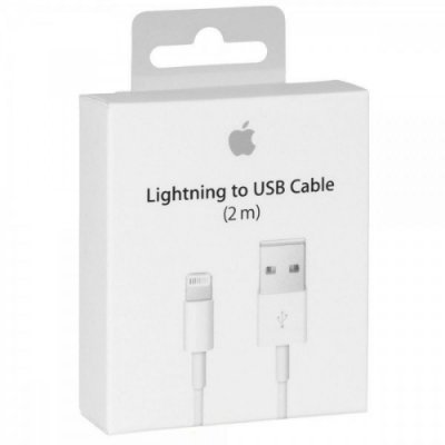 CABO DADOS iPHONE 5G/6G/7G CABO DADOS iPAD 5 / 6 ( BOX ) - MOD. ORIGINAL - CABO iPHONE 6 LIGHTNING ( 2 METROS )