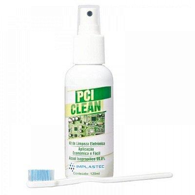 Kit De Limpeza Eletronica Implastec Pci Clean Spray 120ml + Escova