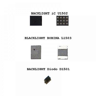 IC Kit 3X1 Backlight Iphone 6G 6G Plus D1501 Diodo + U1502 + L1503 Bobina 3 P
