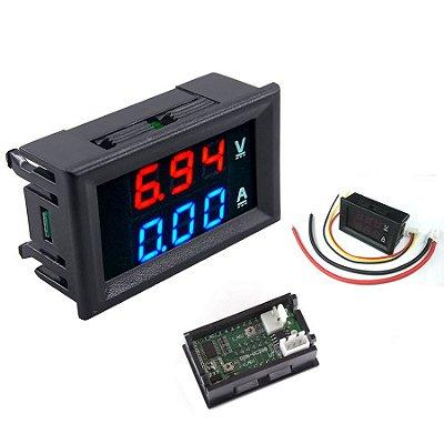 Voltímetro Amperímetro Dual Digital DSN VC288 Dc 0100V 10A