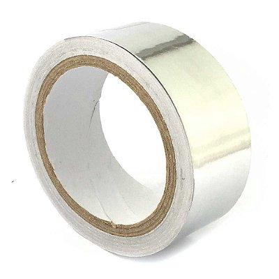Fita Termica Aluminio Alta Temperatura 40mm Rolo 30mts