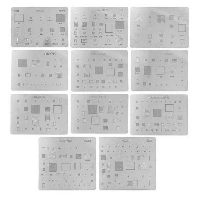 Kit De Stencil Reballing Bga para iphone 14 peças