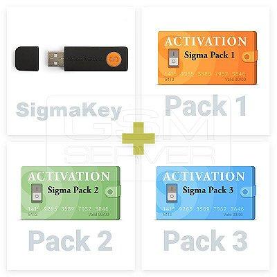 Dongle Sigma Key com Pacote de ativação 1  2 3