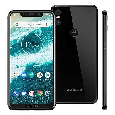 Smartphone Motorola One XT1941 Preto 64GB, Entada de R$200,00 +10x de R$90,00