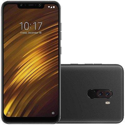 Smartphone Xiaomi Pocophone F1 Preto, Entrada de R$200,00 + 10x de R$130,00