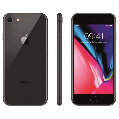 Smartphone Apple iPhone 8 128GB Entrada de R$250,00 +10x de R$200,00 Total R$2.250,00
