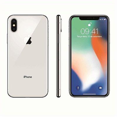 Smartphone Apple iPhone X 64GB Entrada de R$300,00 + 12x de R$262,50 Total R$3.450,00