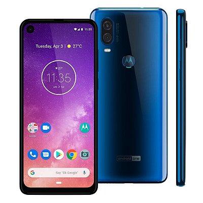 Smartphone Motorola One Vision XT1970-1 128GB, Entada de R$250,00 +10x de R$140,00