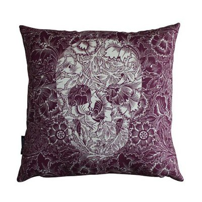 Almofada 45 Skull Flowers Purple