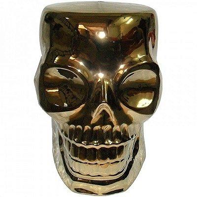 Pufe Skull Gold