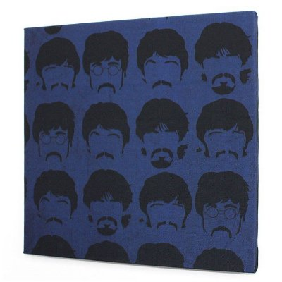 Tela Beatles Faces Blue