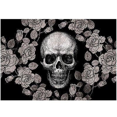 Jogo Americano Skull Roses Black - 02 Peças