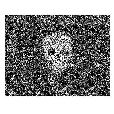 Tapete Skull Flowers 250