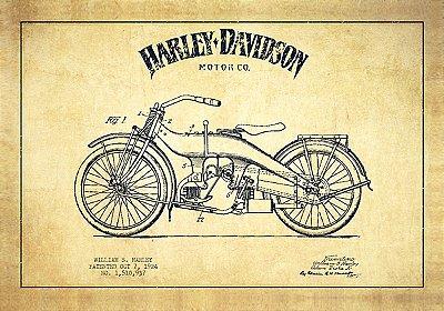 Jogo Americano Harley Sketch- 01 peça