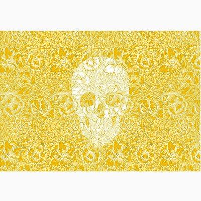 Jogo Americano Skull Yellow - 02 Peças