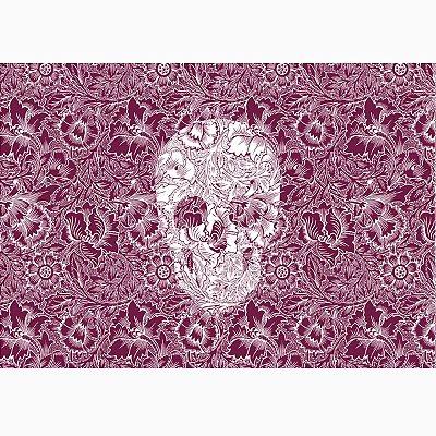 Jogo Americano Skull Purple - 02 Peças