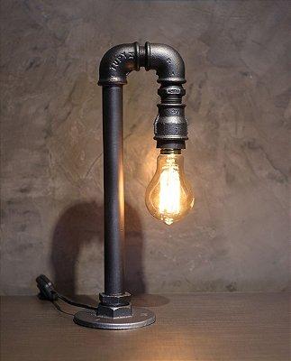 Luminária Cisne Bronze c/ lamp.
