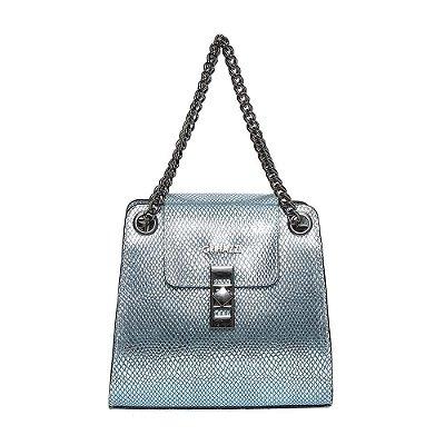 Bolsa de Couro Griffazzi Azul Sky