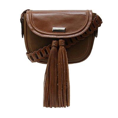 Bolsa Couro Transversal Griffazzi Camel