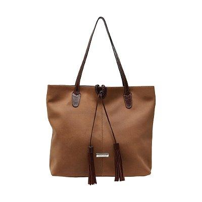 Bolsa Shopping Bag Griffazzi Caramelo