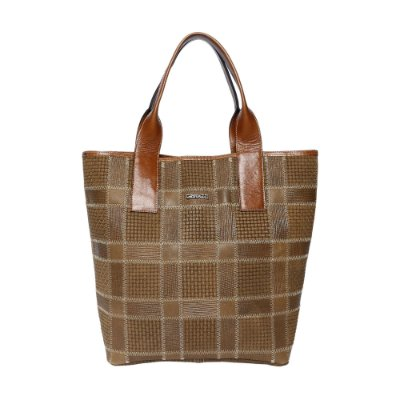 Bolsa Couro Griffazzi Shopping Bag Camel