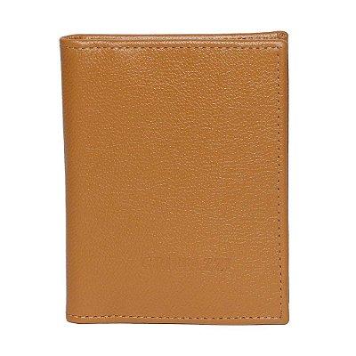 Porta passaporte de Couro Griffazzi Caramelo