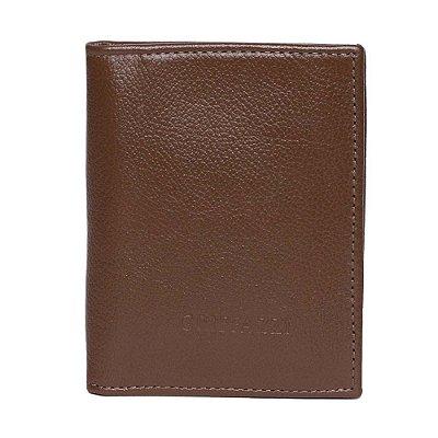 Porta passaporte de Couro Griffazzi Marrom